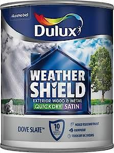 Dulux Weathershield Ext Satin Pure Brilliant White 750Ml
