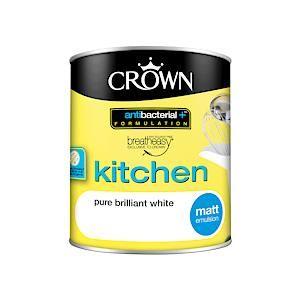 Crown B/E Kitchen Matt Pure Brilliant White 1L