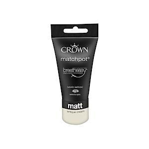 Crown Breatheasy Matt Emulsion - 40Ml - Antique Cream