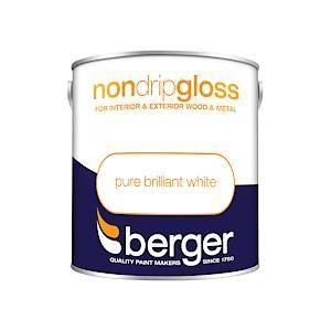 Berger Non Drip Gloss - 2.5L - Bril White