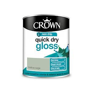 Crown Quick Dry Gloss Mellow Sage 750Ml