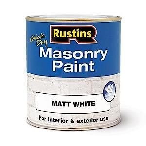 Rustins Masonry Paint Red 250Ml