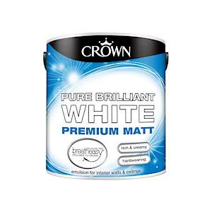 Crown Breatheasy Matt Emulsion - 2.5 Litre - Pbw