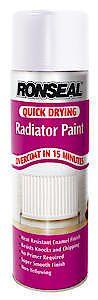 Quick Drying Radiator Spray Paint Brilliant White Satin 400Ml
