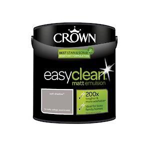 Crown Easyclean Matt Emulsion Soft Shadow 2.5Litre