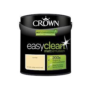 Crown Easyclean Matt Emulsion Sunrise 2.5Litre