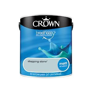 Crown Breatheasy Matt Emulsion - 2.5Litre - Stepping Stone
