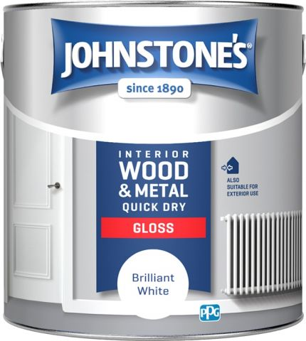 Johnstone's Quick Dry Gloss - Brilliant White 2.5L