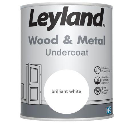 Leyland Wood & Metal Undercoat Brilliant White 750ml
