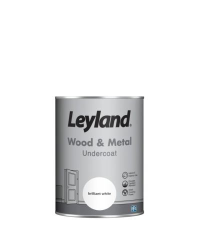 Leyland Wood & Metal Undercoat Brilliant White 1.25lt