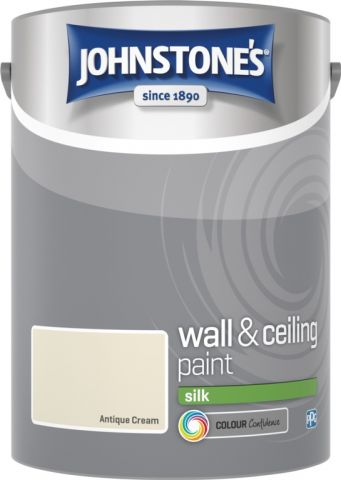 Johnstone's Wall & Ceiling Silk 5L Antique Cream