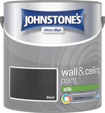 Johnstone's Wall & Ceiling Silk 2.5L Black