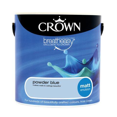 Crown Matt Emulsion 2.5L Powder Blue