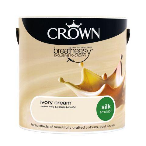 Crown Silk Emulsion 2.5L Ivory Cream