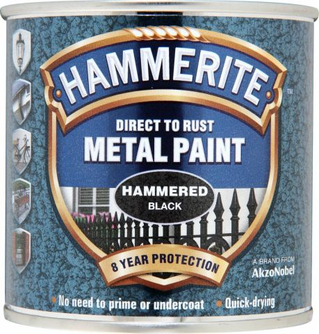 Hammerite Metal Paint Hammered 250ml Black