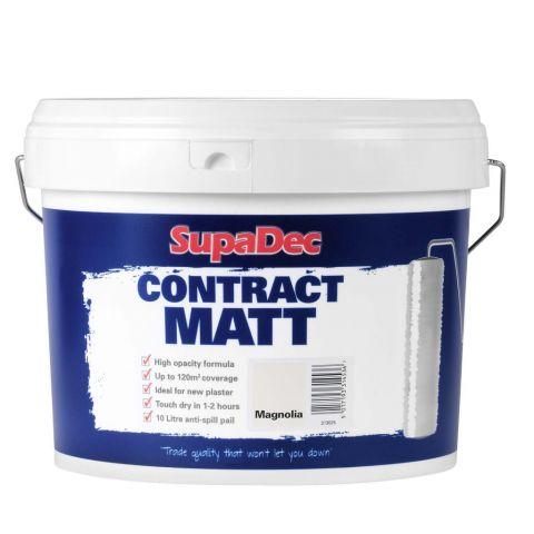 SupaDec Contract Matt Emulsion Paint 10L Magnolia