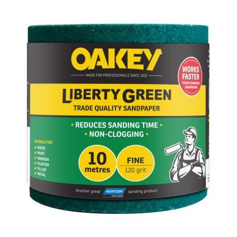 Norton Oakey Liberty Green Rolls - 10m x 115mm 120 Grade