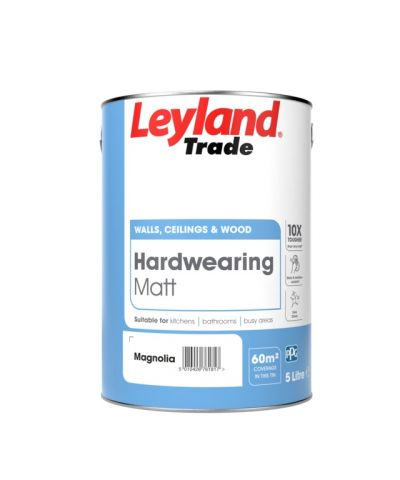 Leyland Trade Hardwearing Matt 5L Magnolia