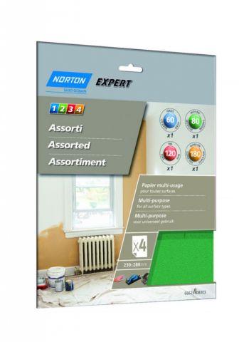 Norton Expert Multi Purpose Assorted Pack 4