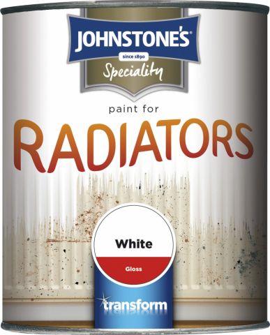 Johnstone's Paint For Radiators 750Ml White Gloss