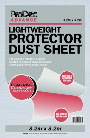 Prodec Lightweight Protector Dust Sheet 3.2 X 3.2M