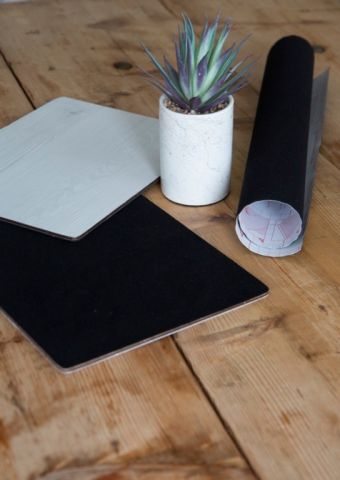 D-C-Fix� Sticky Back Plastic 45Cm X 1M Velour Black