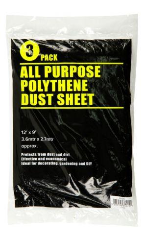 Supadec 3 Piece Clear Dust Sheet 12 X 9'