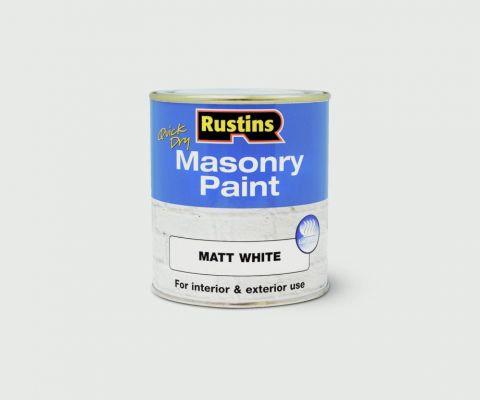 Rustins Masonry Paint 500Ml White