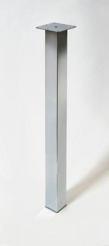 Rothley Square Worktop Leg Chrome 870Mm