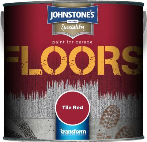 Johnstone's Garage Floor Paint 2.5L Tile Red