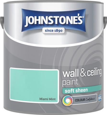 Johnstone's Wall & Ceiling Soft Sheen 2.5L Miami Mint