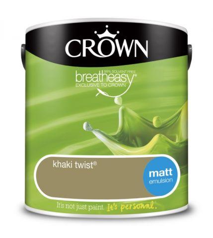 Crown Matt Emulsion 2.5L Khaki Twist