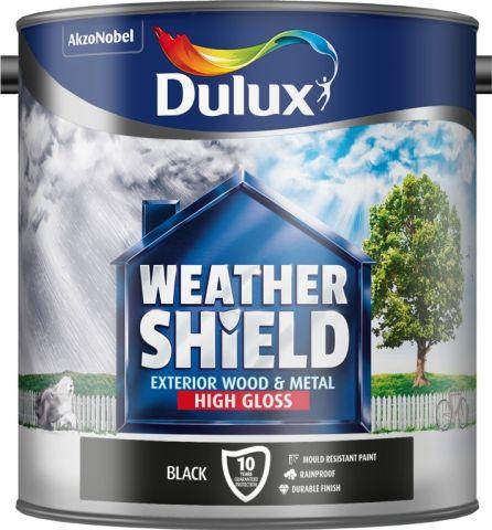 Dulux Weathershield Exterior Gloss 2.5L Black