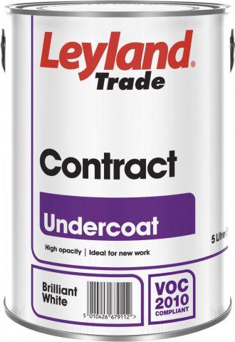 Leyland Trade Contract Undercoat 5L Brilliant White