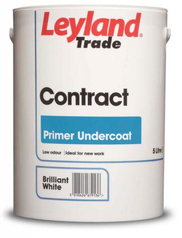 Leyland Trade Contract Acrylic Primer Undercoat 5L Brilliant White