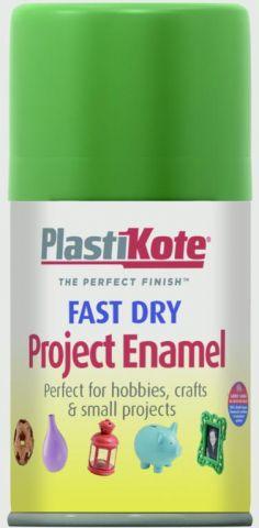 Plastikote Fast Dry Enamel Aerosol Paint Garden Green - 100Ml