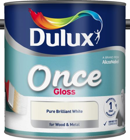 Dulux Once Gloss 2.5L Pure Brilliant White