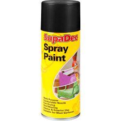 SupaDec Spray Paint 400ml Matt Black