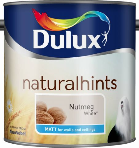 Dulux Natural Hints Matt 2.5L Nutmeg White