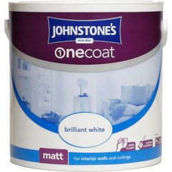 Johnstone's One Coat Matt 2.5L Brilliant White