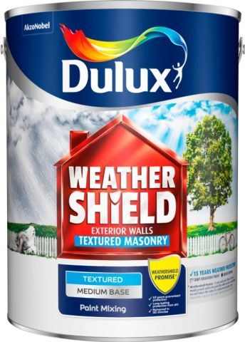 Dulux Colour Mixing Weathershield 5L Medium Textured Base