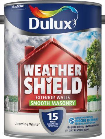 Dulux Weathershield Smooth Masonry Paint 5L Jasmine White