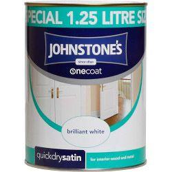 Johnstone's One Coat Satin - Brilliant White 1.25L