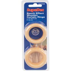 Supadec Wooden White Curtain Rings 56Mm