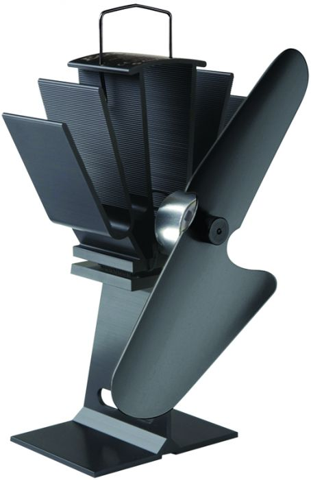 Ecofan 800 Original Wood-Stove Fan; All Black (2014 Model)