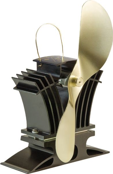 Ecofan 806 Belair Low Stovetop Temperature Stove Fan; Black & Gold