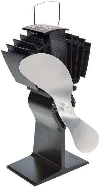 Ecofan 812 Airmax Wood-Stove Fan; Black & Nickel