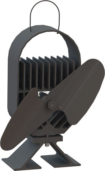 Ecofan 8201 Airdeco Wood-Stove Fan; All Black