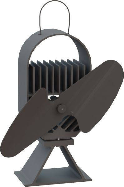 Ecofan 8202 Airdeco Wood-Stove Fan; All Black