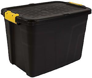 Store Box &Lid Heavy Duty 42Lt Hw443